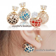 Korean Double Pearl Earrings